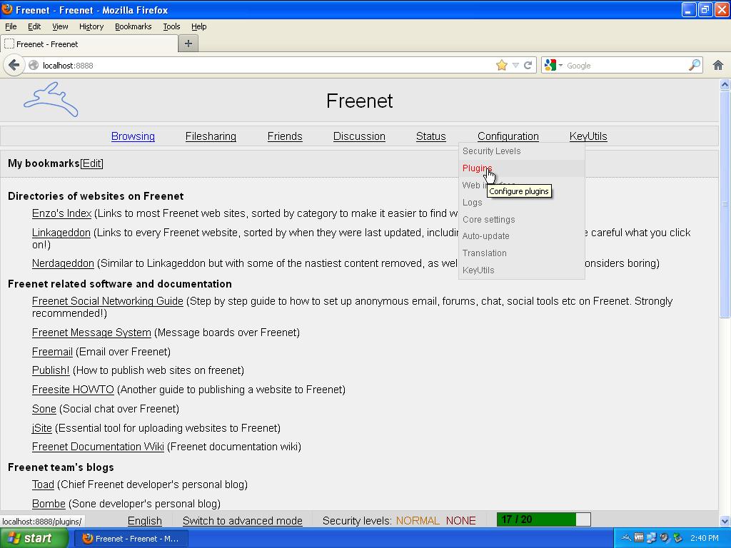 Freenet de community login